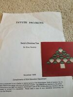 Cross Stitch CHRISTMAS Santa's Christmas Tree Design PATTERN  Santa