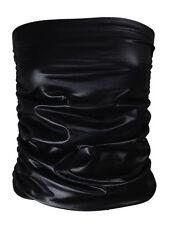 NEW LADIES PLUS BLACK PVC WET LEATHER LOOK BOOBTUBE BANDEAU TUBE TOP SIZE XL XXL