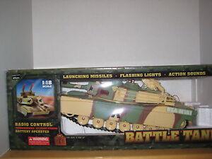 MotorWorks Military Series 1:18 Scale Radio Control USA-M1A1  Battle Tank