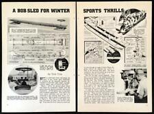 12' Bobsled 10 seat front steering 1933 HowTo build PLANS