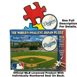 World's Smallest Puzzles MLB Los Angeles Dodgers Baseball TDC Puzzles 234 Pieces
