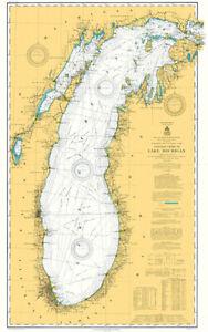 Lake Michigan - 1909 - Nautical Chart Map Poster