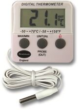 DIGITAL FRIDGE OR FREEZER MAX MIN IN OUT THERMOMETER WITH ALARM