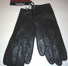 Ladies Fownes Genuine Leather Driving Gloves,Black, Small Style 6409