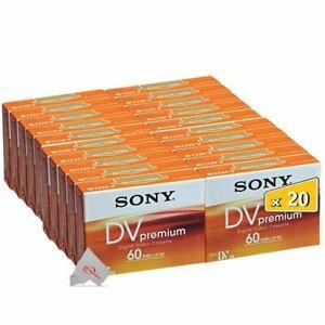 Twenty Pcs Sony Premium Mini DV 60 Minute Digital Video Cassette Tape DVM60PR4J