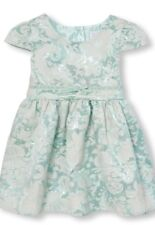 THE CHILDRENS PLACE Toddler Girl MINT Floral Dress Size 4T NWT New In Package!