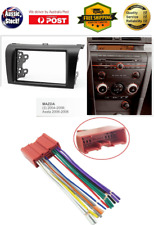 Harness + Fascia facia Mazda 3 2004-2008 BK Double Two 2 DIN Dash Kit