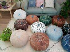 Poufs ottoman Moroccan ottoman pouf , Real Leather Natural handmade 100%