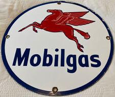 New Listing Vintage Mobil Gasoline Porcelain Sign, Gas Station, Pump Plate, Mobilgas, Oil