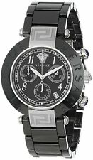 Versace Women's Reve 95CCS9D008 SC09 Black Ceramic Band Chronograph Date Watch
