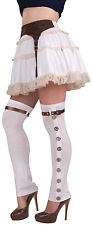 Ladies Adult Steampunk Long Spats Stockings Fancy Dress Costume Outifit Accesory