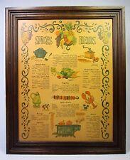 Vintage Wooden Kitchen Spice & Herb Rack Cabinet Three Mountaineers 1970