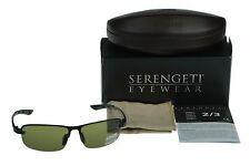 NEW POLARIZED SERENGETI STRATO Satin Black PHD 555NM Lens Sunglasses 7680