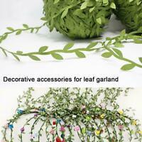 1xArtificial Leaf Flower Leaves Vine Fabric Garland DIY Home Party Wedding M5P2