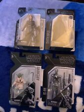 "Darth Maul, Anakin, Yoda, IG-88, 6"" Black Series Archive Star Wars Lot of 4 NEW"