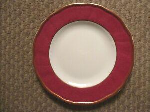 5 X  WEDGWOOD CROWN RUBY SALAD PLATES 20.5 CM