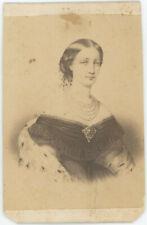 CDV circa 1865. Eugénie de Montijo, impératrice des français. Famille impériale.