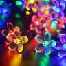 50 LED Garden Solar Fairy String Lights Crystal Globe Ball Waterproof Bulbs