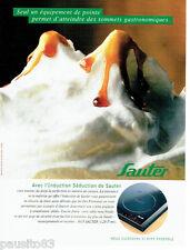 PUBLICITE ADVERTISING 096  1998  Sauter  plaque  l'induction