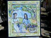 "IVAN RANE 2012 Oil on canvas"" Women With Grapes"" New Mexico"