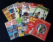 (13) Vintage Baseball & Football Pubs: 1948-60 Mays Mantle Graham Luckman+