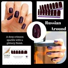 Color Street Russian Around 100% nail polish strips Red Glitter