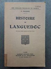 """""""Histoire de Languedoc"""" / P. Gachon (1926)"""
