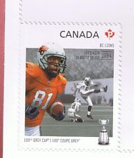 2012 CANADA CFL CANADIAN FOOTBALL LEAGUE-  BC LIONS SINGLE STAMP