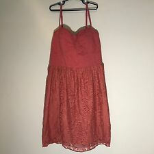 American Eagle Outfitters Pink Lacey Spaghetti Strap Dress WOMEN's Size L Large