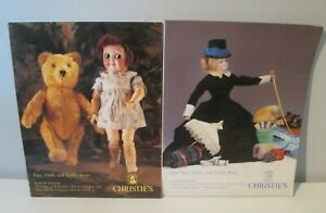 2x Auction Calalogue Christies Toys Dolls Bears 1990.s - Great Reference Items