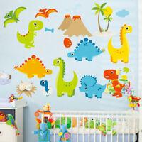 Dinosaurs Wall Sticker Cartoon Dino Decal Kids Bedroom Nursery Removable Art