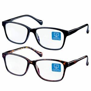 Kenzhou Blue Light Blocking Glasses 2 Pack,Anti Eyestrain & UV Glaremn,Resin len
