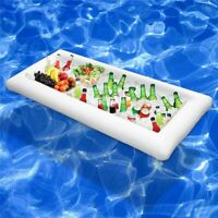 Pool Float Inflatable Beer Table Mattress Ice Bucket Serving Salad Bar Tray Food