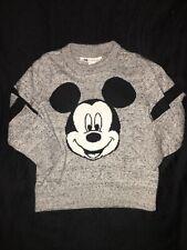 Baby Gap Mickey Mouse Sweater Sz 2T Grey & Black