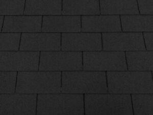 Dachschindeln 1m? Rechteck Form Schwarz (7 Stk) Schindeln Dachpappe Bitumen