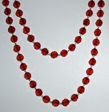 Elegant Red and Clear Crystal Necklace