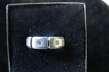 MENS 14K WHITE GOLD DIAMOND BAND RING SIZE 8.75