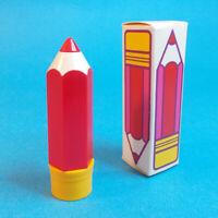 Vtg 1970s Avon SCHOOL DAYS PENCIL Shaped .13 oz Lip Pomade Lipstick w Box NOS