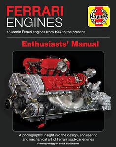 Ferrari Engines Book Haynes Enthusiasts Manual V12 V8 360 456 308 Dino 250 Ff