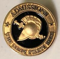 Admissions The Corps Starts Here Gold Tone & Black Lapel Hat Pin Pinback