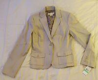 New Michael Kors Stretch Dune Blazer Coat Jacket Size 8