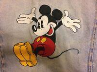 Disney, girl or boy, Denim Jacket, child size Large, Mickey Mouse, vintage