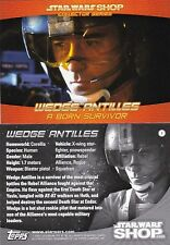 STAR WARS SHOP PROMO CARD TOPPS Wedge Antilles TRILOGY RARE ltd ed NEW