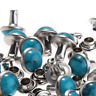 8MM Blue Turquoise Rivets Rapid Rivets Studs DIY Leather Craft Decorative for Ba