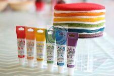 Gel de Color coloursplash Glaseado Pasta Para Decoración De Pasteles Juego de 6 Colores Arco Iris