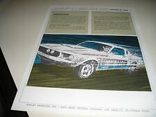 1967  ORIGINAL FORD/ MUSTANG/ SHELBY GT 350/500 SPECIFICATION BROCHURE/ MANUAL