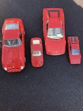 Lotto 4 Auto Burago Ferrari Scala 1/24 E 1/43