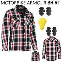 Motorbike Motorcycle  Mens Check Shirt  Lumberjack CE Armour Protection UK Biker