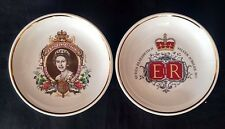 2x Palissy Queen Eliz II Silver Jubilee 1977 Pin Dishes | FREE Delivery UK*