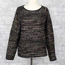 Sessun Christie Multi Fiber Wool Jumper Sweater Medium Black Metallic French M